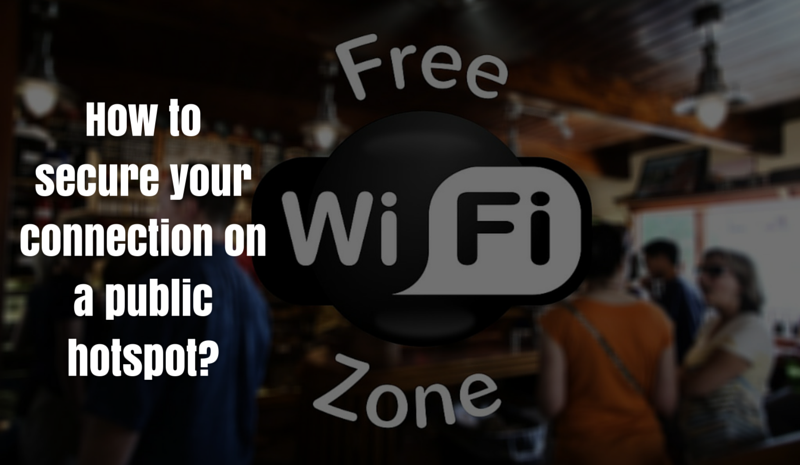 Secure your connection on public WiFi
