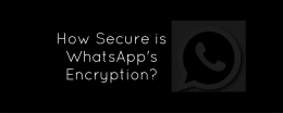 How Secure is WhatsApp's Encryption?