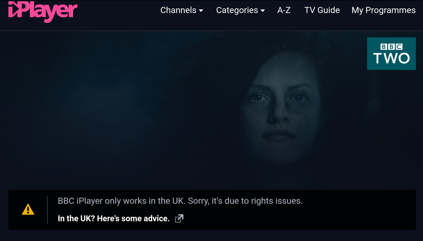 BBC iPlayer blocked outside UK